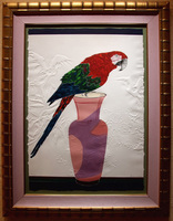 "Scarlet/ Etching with Embossing/ 28""X40"" unframed $1600/ 40""52"" framed $2200/ Free Shipping to USA"