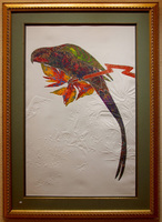 "Satsuma/           Etching with Embossing/ 27""X41"" unframed $995/  41""55"" framed $1595/ Free Shipping to USA"