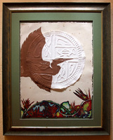 "Helios/ Etching with Embossing/ 23""X31"" unframed $700/ 35""X44"" framed $1200/ Free Shipping to USA"