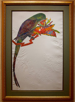 "Cloisonne'/         Etching with Embossing/ 27""X41"" unframed $995/  41""X55"" framed $1595/ Free Shipping to USA"